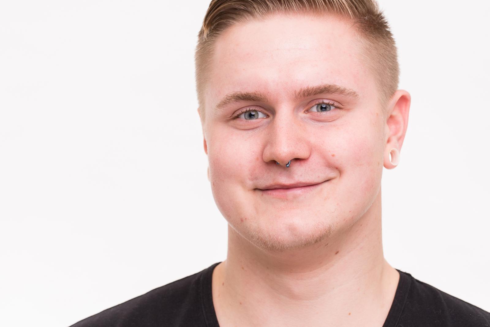 Headshot bzw Portrait von Dustin